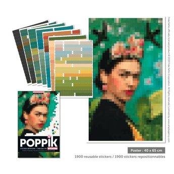 Poppik stickerkunst Sticker ARTWORK - FRIDA KAHLO (Portrait)