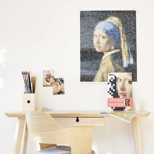 Poppik stickerkunst Sticker ARTWORK - VERMEER (Girl with the Pearl Earring)