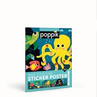 Poppik Maak je eigen stickerposter - Aquarium