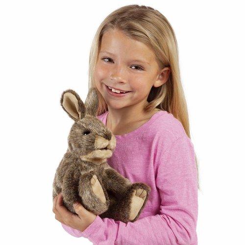 Folkmanis handpoppen en poppenkastpoppen Handpop wild konijn