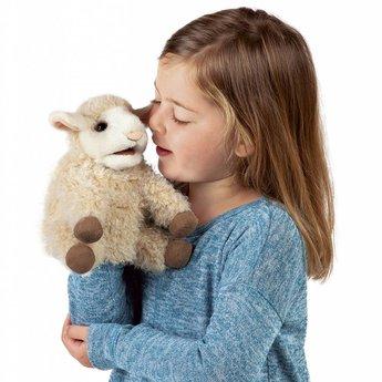 Folkmanis handpoppen en poppenkastpoppen Handpop klein schaap