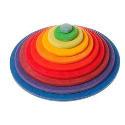 Grimms houten speelgoed Concentrische cirkel en ringen