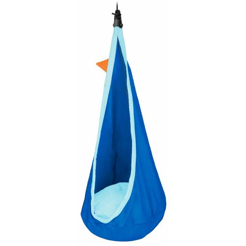 La Siesta hangmatten Joki Dolphy - Kinderhangnest biologisch katoen - blauw