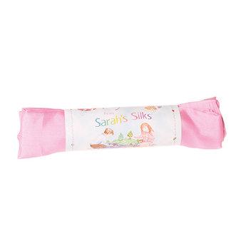 Sarah's Silk speelzijde Sarah's Silks roze zijden doek