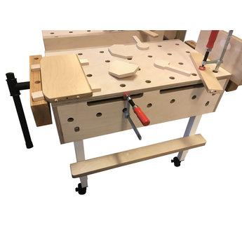 RobHoc flexibele schoolmeubels Robhoc workbench over tafelblad-1 vise (basis)