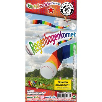 Kids at work kindergereedschap werpbal komeet regenboog