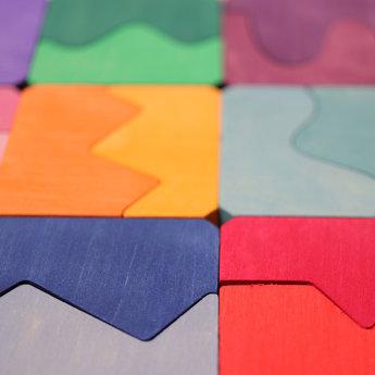 Grimms houten speelgoed Convex Concave zoekopdrachten - puzzel bol en hol aan elkaar