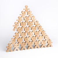 Flockmen houten poppetjes 32 stuks