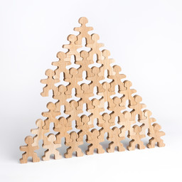 Flockmen Flockmen houten poppetjes 32 stuks