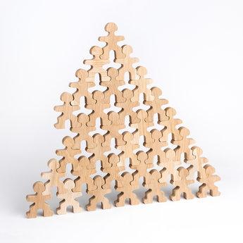 Flockmen Flockmen houten bouwspeelgoed 32 stuks