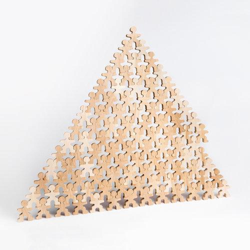 Flockmen Flockmen houten poppetjes 100 stuks