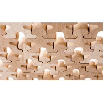 Flockmen Flockmen houten bouwspeelgoed 100 stuks