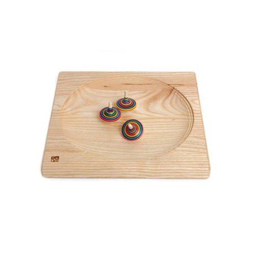 Mader houten tollen Tolbord van massief notenhout 20 x 20 cm