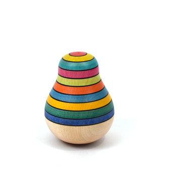 Mader houten tollen Tuimelaar peer van hout in regenboogkleuren