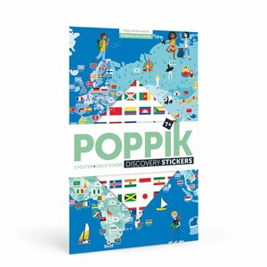 Poppik stickerkunst Poppik Stickerposter vlaggen