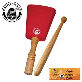 Rattlesnake muziekinstrumenten voor kinderen Koebel, met mooie heldere klank - kinderpercussie