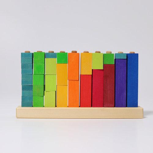 Grimms houten speelgoed Grimms Rekentoren steekspel