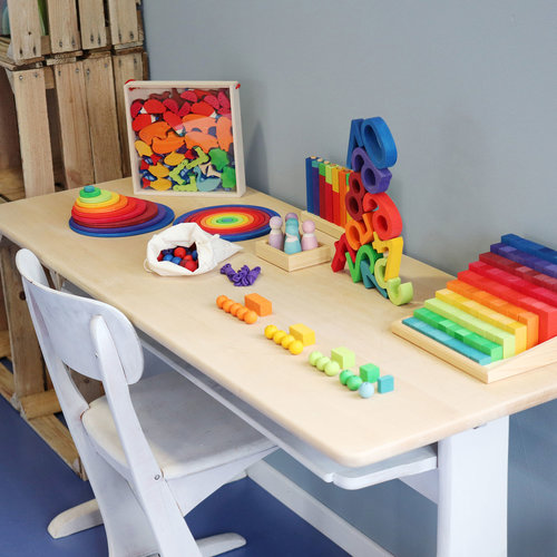 Grimms houten speelgoed Gekleurde kralentrap van Grimms