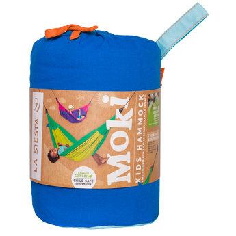 La Siesta hangmatten Moki Dolphy kleine kinderhangmat van biologisch katoen - blauw