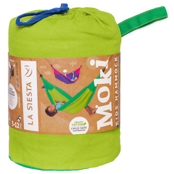 La Siesta hangmatten Moki Froggy hangmat voor kinderen van biologisch katoen - groen