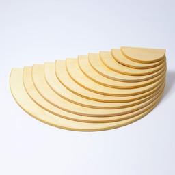 Grimms houten speelgoed Grimms Grote halve cirkels naturel