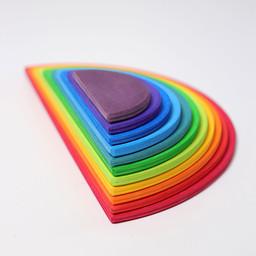 Grimms houten speelgoed Grote halve cirkels regenboog