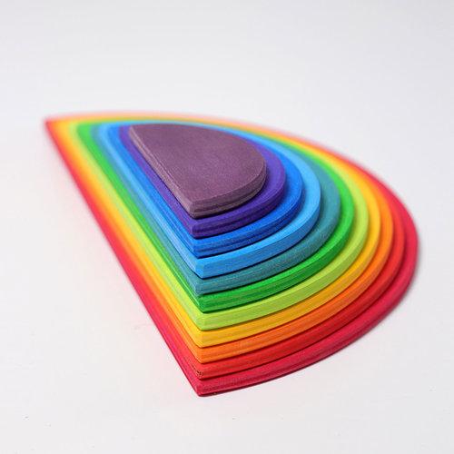 Grimms houten speelgoed Grimms Grote halve cirkels regenboog