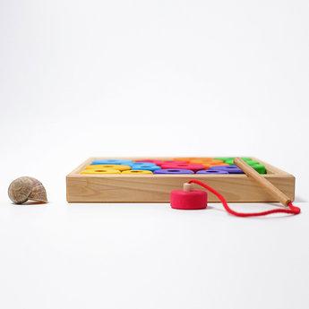Grimms houten speelgoed Grimms rijgspel in 6 kleuren