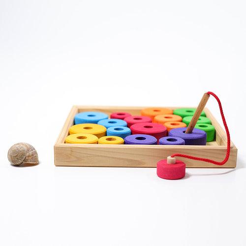 Grimms houten speelgoed Rijgspel in 6 kleuren