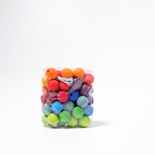 Grimms houten speelgoed Houten regenboog kralen 30 mm 36 stuks