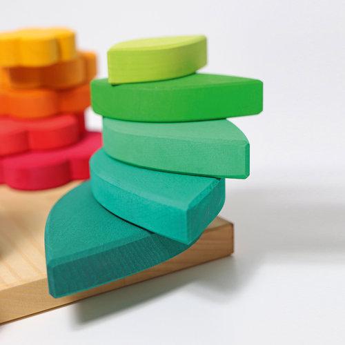 Grimms houten speelgoed Vormen steek- en sorteerspel