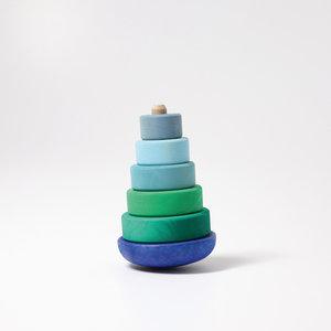 Grimms houten speelgoed Grimms Stapeltoren klein blauw