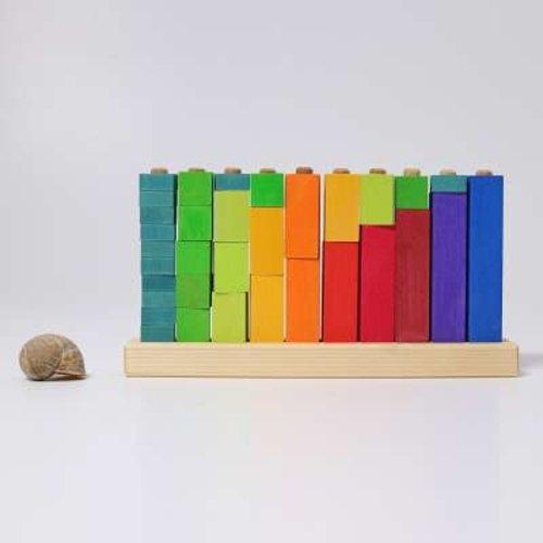 Grimms houten speelgoed Rekentoren steekspel