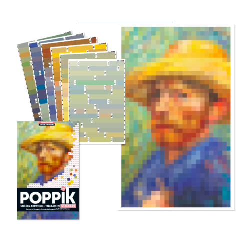 Poppik stickerkunst Stickerkunst - VAN GOGH - zelfportret
