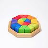 Grimms houten speelgoed Grimms blokkenpuzzel achthoek