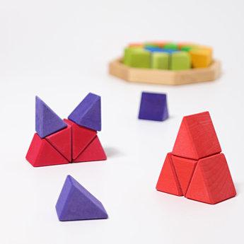 Grimms houten speelgoed Grimms geometrische vormen blokkenpuzzel achthoek