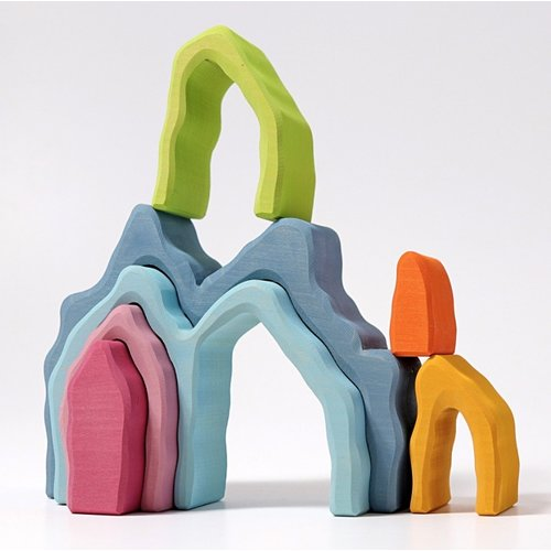 Grimms houten speelgoed Gekleurde bogen grot van hout