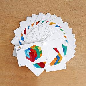 Grimms houten speelgoed Spelvoorbeelden blokkenpuzzel vierkant