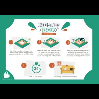 Mosaikit Mosaicbox mozaiek Mandala 8 met lijst 20 cm