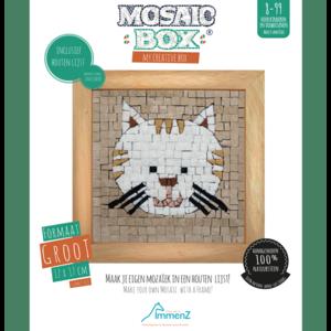 Neptune Mosaic Mosaikit en Mosaicbox Mosaicbox - Mozaiek met lijst Kat