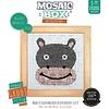 Mosaikit Mosaicbox - Mozaiek met lijst Nijlpaard