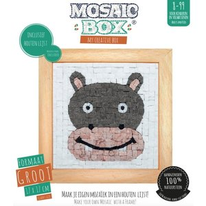 Neptune Mosaic Mosaikit en Mosaicbox Mosaicbox - Mozaiek met lijst Nijlpaard