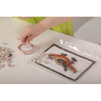 Mosaikit Mosaicbox - Mozaiek met lijst Nijlpaard 17 cm