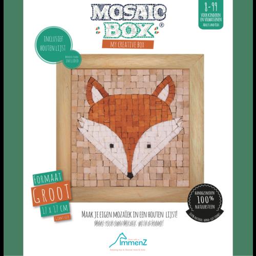 Neptune Mosaic Mosaikit en Mosaicbox Mosaicbox - Mozaiek met lijst Vos 17 cm