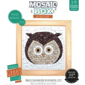 Mosaikit Mosaicbox - Mozaiek met lijst Uil 17 cm