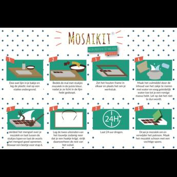 Mosaikit Mosaikit mozaiek Hart 12 cm