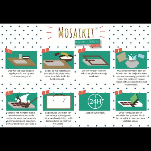 Neptune Mosaic Mosaikit en Mosaicbox Mosaikit Mozaiek Egel 12 cm