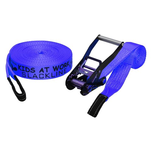 Kids at work kindergereedschap Kids at Work Slackline blauw 17,5 meter