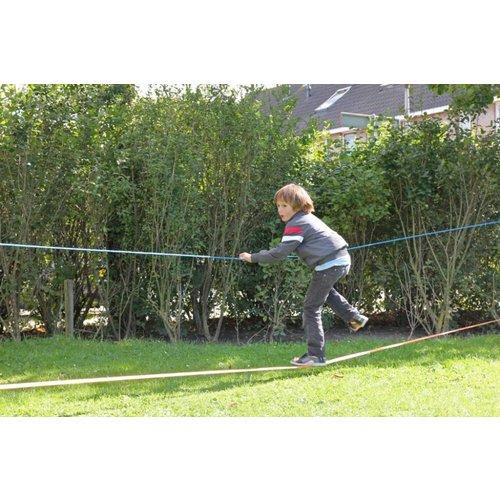 Kids at work kindergereedschap Slackline blauw: balanceren voor kinderen en volwassenen -