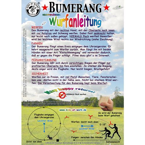 Kids at work kindergereedschap Boomerang uit hout 3 vleugels, zelfbouwpakket